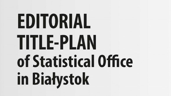Editorial Title-Plan of Statistical Office in Białystok 2020