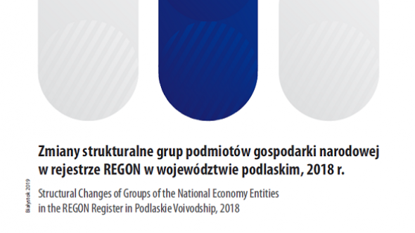 Structural Changes of Groups of the National Economy Entities in the REGON Register in Podlaskie Voivodship, 2018