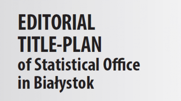 Editorial Title-Plan of Statistical Office in Białystok 2019