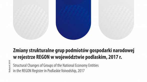 Structural Changes of Groups of the National Economy Entities in the REGON Register in Podlaskie Voivodship, 2017