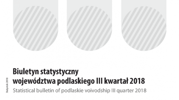 Statistical Bulletin of Podlaskie Voivodship III quarter 2018